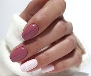 nails, pink, and simple image
