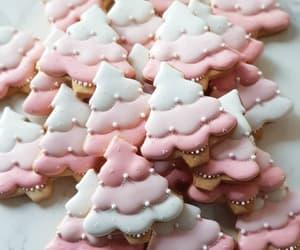 christmas, pink, and Cookies image