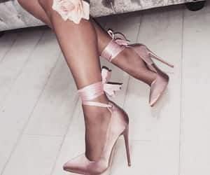 beautiful, rose, and shoes image