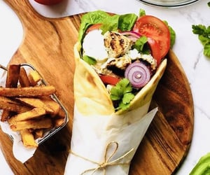 Chicken, food, and wrap image
