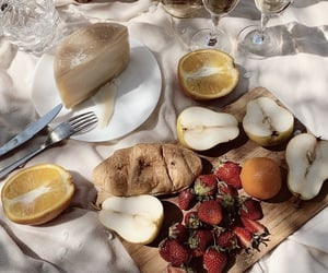 food, orange, and strawberry image