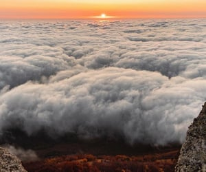clouds and sunset image