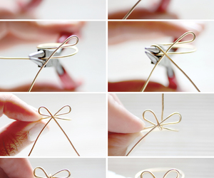 ring, diy, and bow image