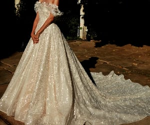 ball gown, beautiful dress, and bride image