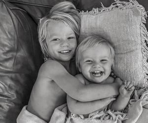 adorable, black and white, and boys image