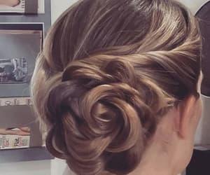 braid, bride, and hair image