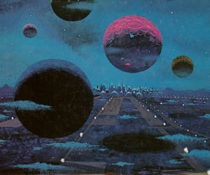 planet, art, and space image