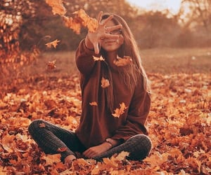 autumn, girl, and season image