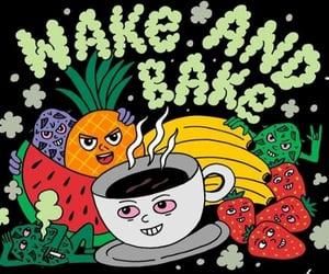 art, cannabis, and coffee image