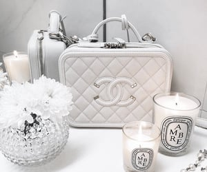 bag, candle, and chanel image