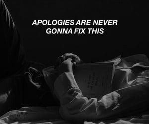 aesthetic, black and white, and Lyrics image