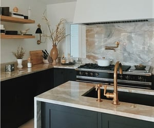 home, marble, and kitchen image