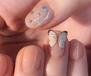 nails, butterfly, and aesthetic image