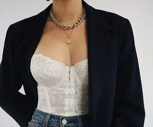 blazer, bustier, and classic image