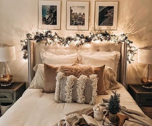 bedroom, christmas, and coffee image