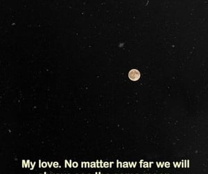long distance, moon, and Relationship image