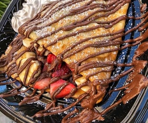 food, crepes, and chocolate image