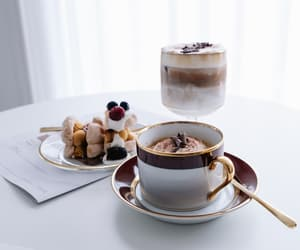 breakfast, chocolate, and coffee image