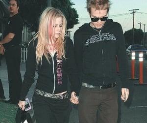 Avril Lavigne, black, and girl image