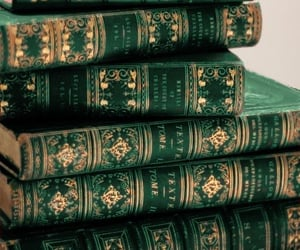 book, aesthetic, and green image