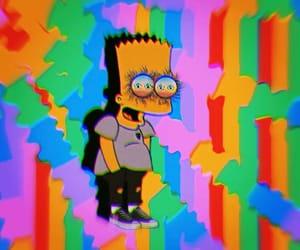 acid, art, and bart simpson image