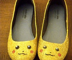 shoes, pikachu, and yellow image