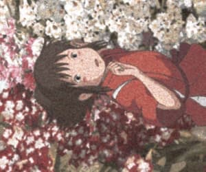 anime, grainy, and spirited away image