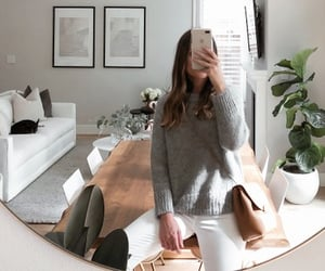 decor, style, and sweater image