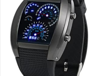 blue led and car watch image
