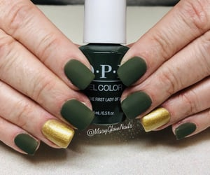 matte, olive nails, and nails image