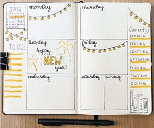 artsy, journal, and yellow image