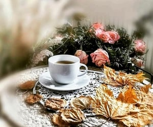 black, black coffee, and breakfast image