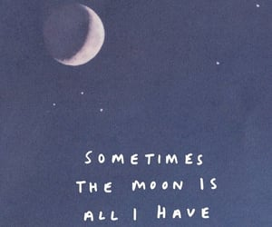 moon, blue, and quote image