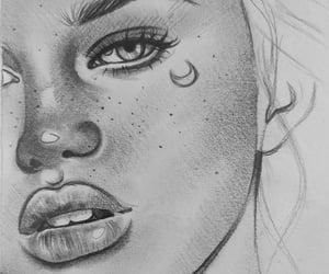 art, lips sketch, and dibujo image