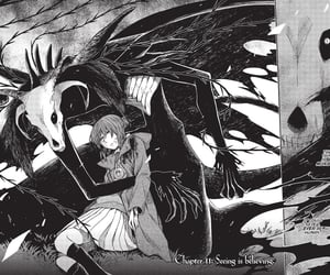 anime, black and white, and the ancient magus bride image