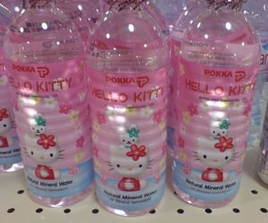 hello kitty, pink, and water image