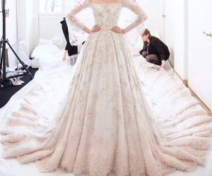 bride, royalwedding, and Couture image