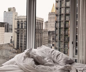 city, bed, and interior image