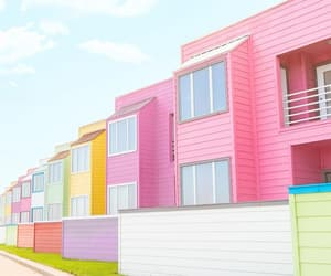 apartments, colorful, and colors image