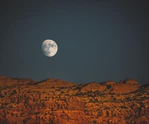 art, landscape, and moon image