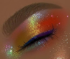 makeup, glitter, and indie image