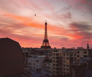 eiffel tower, paris, and scenery image