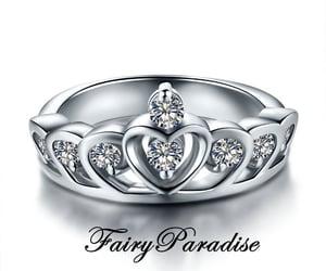 etsy, engagementring, and princess crown ring image