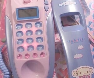 pink, phone, and pastel image