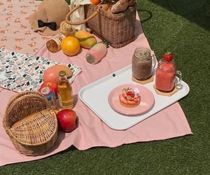 picnic, pink, and food image