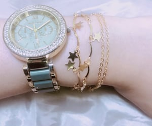 fashion, golden watch, and style image