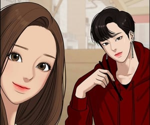 seojun, jugyeong, and true beauty webtoon image