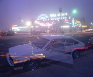 aesthetic, car, and light image