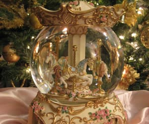 carousel, christmas, and horse image
