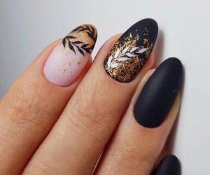 almond, art, and black image
